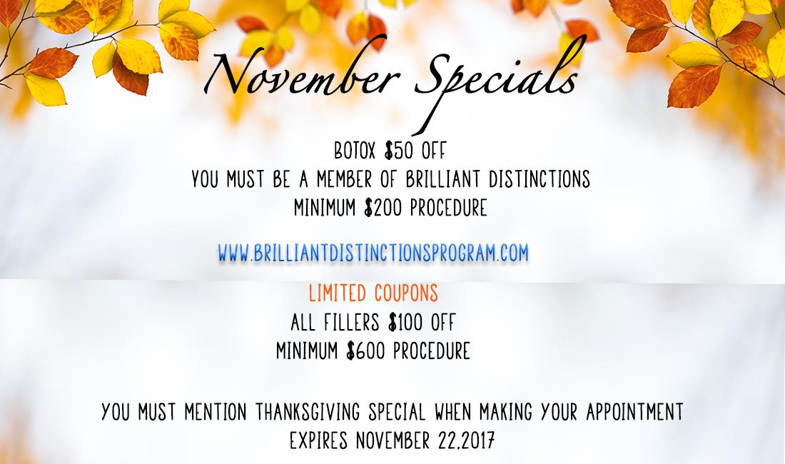 November Specials   Esta Kronberg, MD